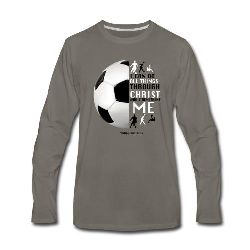 soccer - Men's Premium Long Sleeve T-Shirt