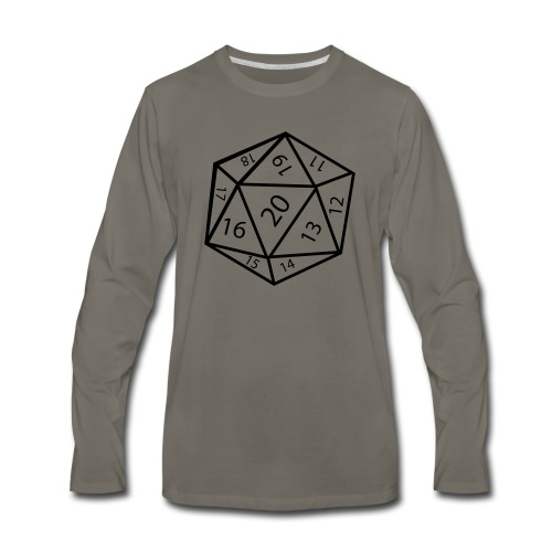 20_sided_dice - Men's Premium Long Sleeve T-Shirt