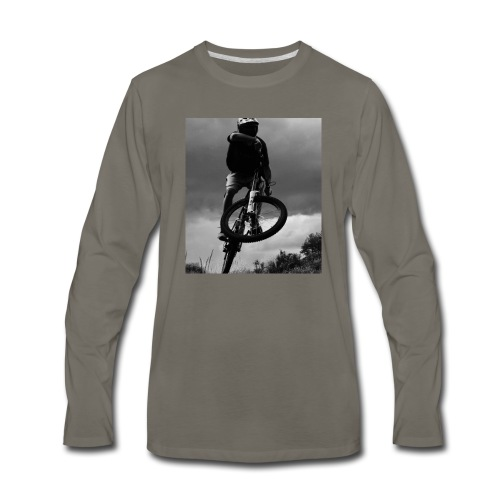 DOWNHILL. - Men's Premium Long Sleeve T-Shirt