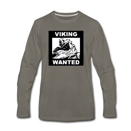 VIKING WANTED - Men's Premium Long Sleeve T-Shirt