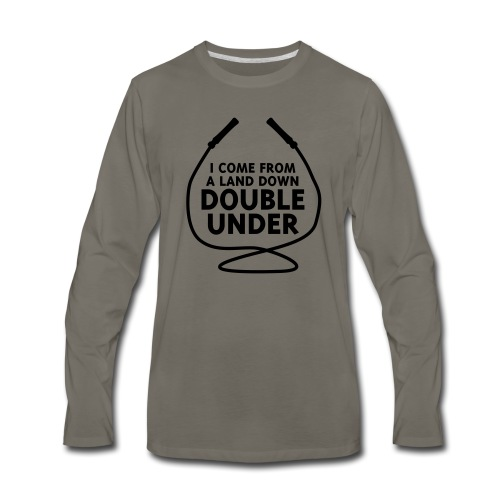 I Come From A Land Down Double Under - Men's Premium Long Sleeve T-Shirt