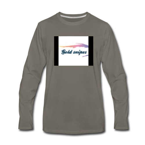 Kids Gold snipes Tshirt - Men's Premium Long Sleeve T-Shirt