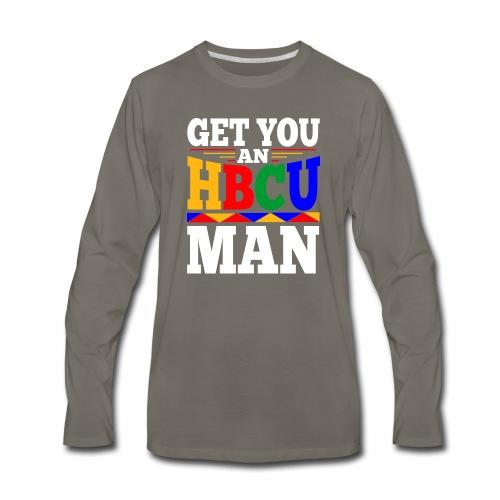 HBCU MAN - Men's Premium Long Sleeve T-Shirt
