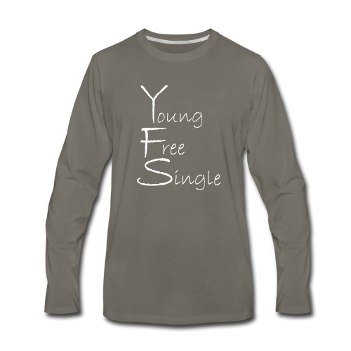 Young Free Single from Bent Sentimenta - Men's Premium Long Sleeve T-Shirt