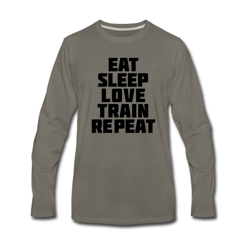 Eat Sleep Gym Motivation - Men's Premium Long Sleeve T-Shirt