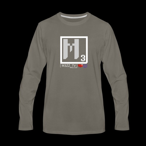 M3ZZ TV SOCIAL NETWORKS LIGHT - Men's Premium Long Sleeve T-Shirt