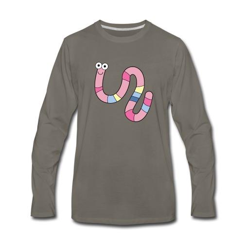 Squirmy Wormy (plain) - Men's Premium Long Sleeve T-Shirt