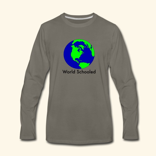 World Schooled - Men's Premium Long Sleeve T-Shirt