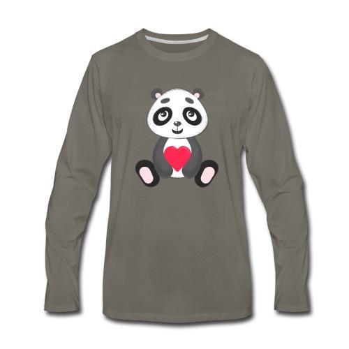 Sweetheart Panda - Men's Premium Long Sleeve T-Shirt