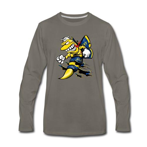 Cartoon Blue Angels F/A-18 Hornet - Men's Premium Long Sleeve T-Shirt