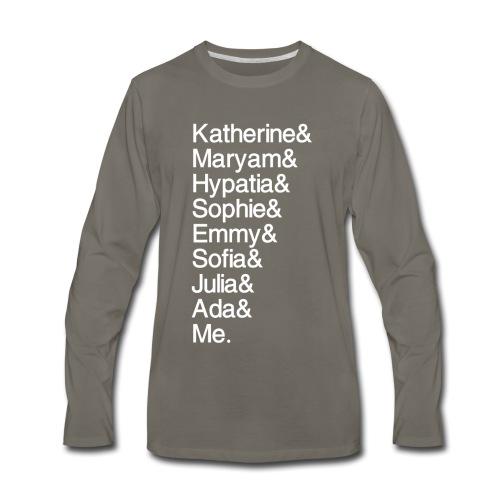 Women in Math & Me (at bottom) - Men's Premium Long Sleeve T-Shirt