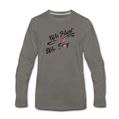 We Hunt We Slay Cherry Blossom - Men's Premium Long Sleeve T-Shirt