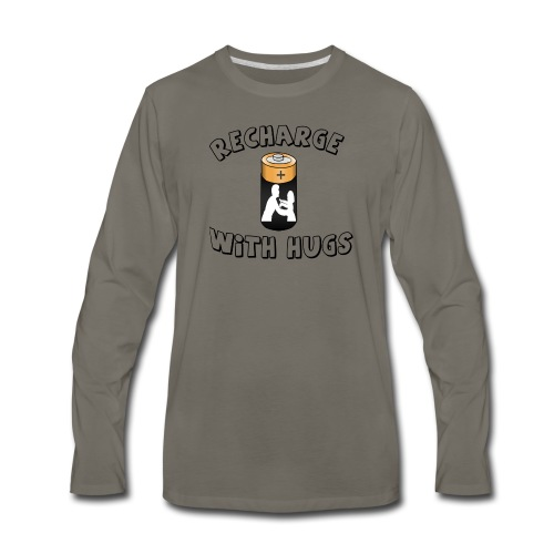 Recharge with hugs - Men's Premium Long Sleeve T-Shirt