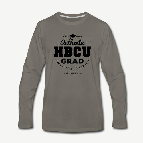 Authentic HBCU Grad - Men's Premium Long Sleeve T-Shirt
