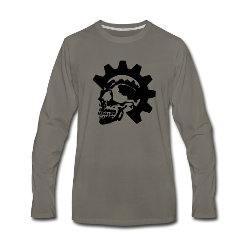 Gearhead Skull - Men's Premium Long Sleeve T-Shirt