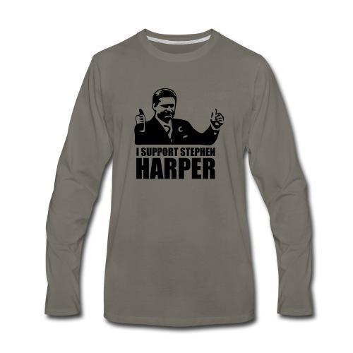 I Support Stephen Harper - Men's Premium Long Sleeve T-Shirt