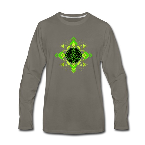 Design2_green - Men's Premium Long Sleeve T-Shirt