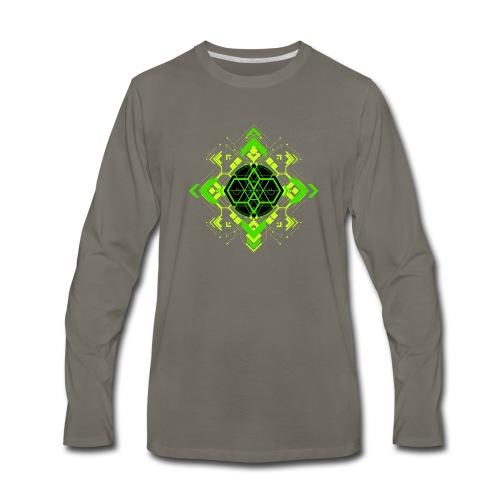 Design2_green - Men's Premium Long Sleeve T-Shirt