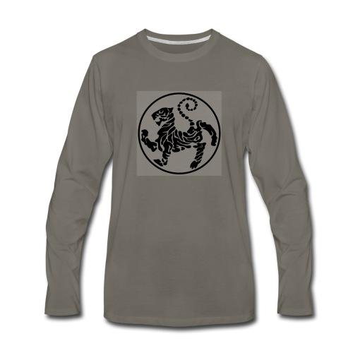 Shotokan-Tiger_black - Men's Premium Long Sleeve T-Shirt
