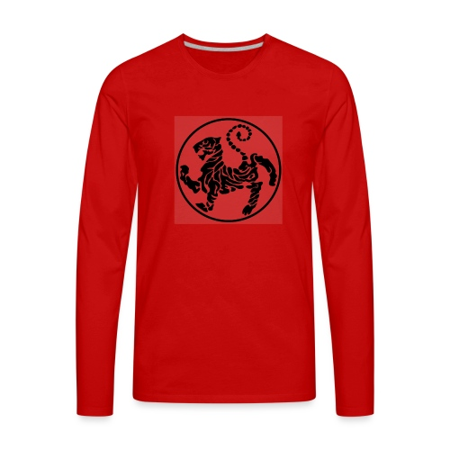 Shotokan-Tiger_black - Men's Premium Long Sleeve T-Shirt
