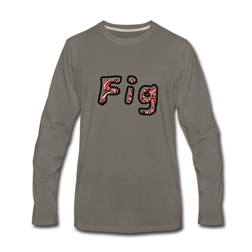 Fig Logo - Men's Premium Long Sleeve T-Shirt