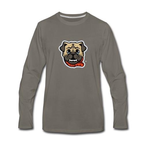 Pug_Mascot_WhiteBG - Men's Premium Long Sleeve T-Shirt