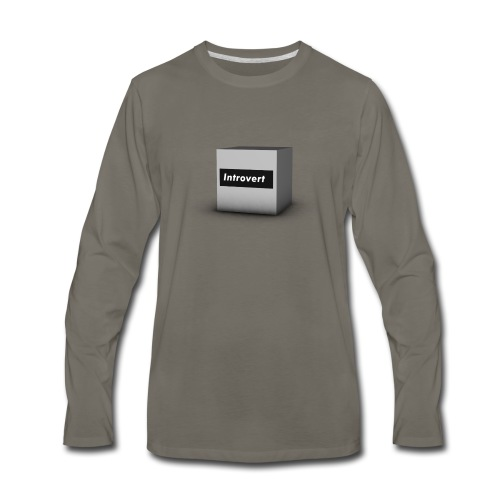 Box Logo - Men's Premium Long Sleeve T-Shirt