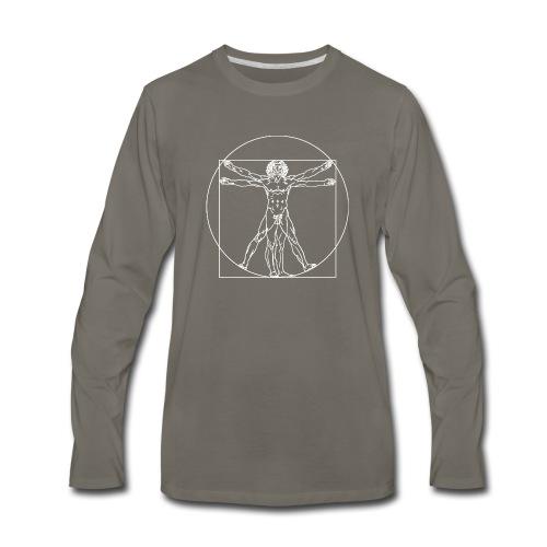 Vitruvian Man (da Vinci) - Men's Premium Long Sleeve T-Shirt