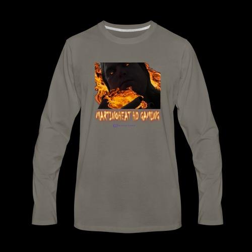 Martinoheat HD Gaming button - Men's Premium Long Sleeve T-Shirt