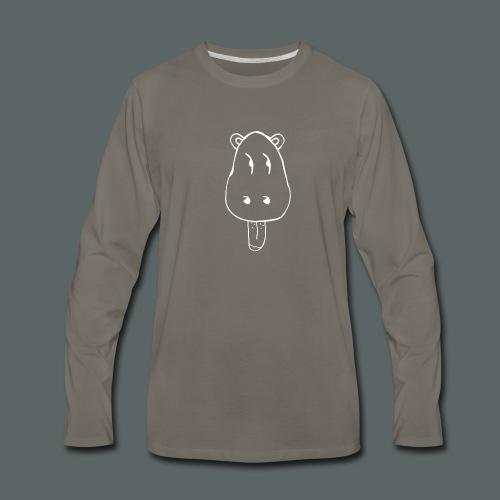 UmumiHead-White - Men's Premium Long Sleeve T-Shirt