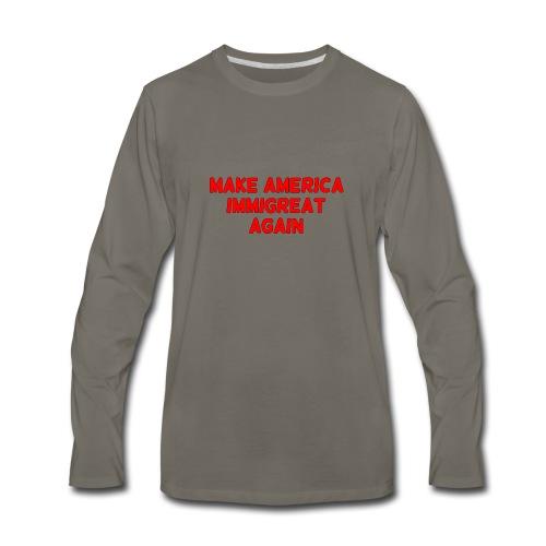 ImmiGREAT - Red - Men's Premium Long Sleeve T-Shirt
