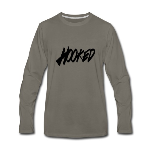 Hooked black logo - Men's Premium Long Sleeve T-Shirt