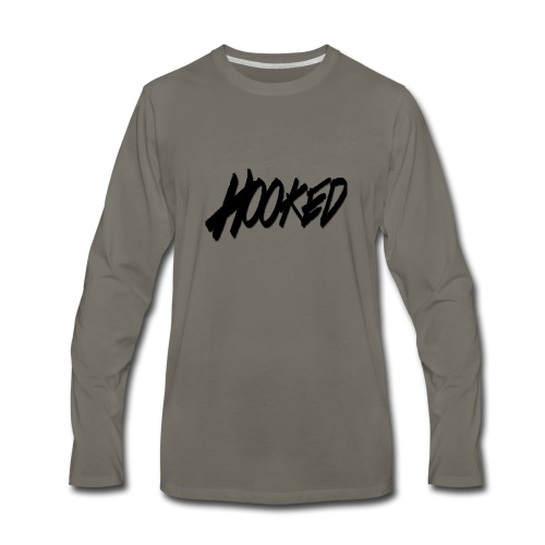 Hooked black logo - Men's Premium Long Sleeve T-Shirt