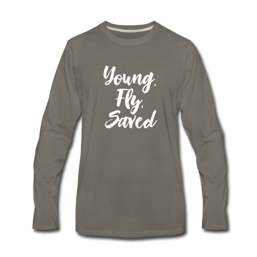 Young Fly Saved - Men's Premium Long Sleeve T-Shirt