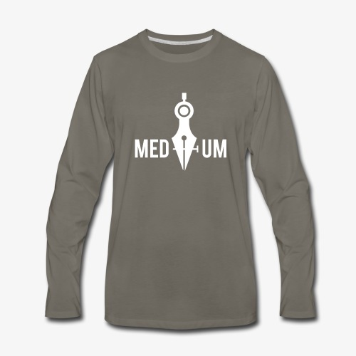 Medium (Pen Tool and Compass) - Men's Premium Long Sleeve T-Shirt