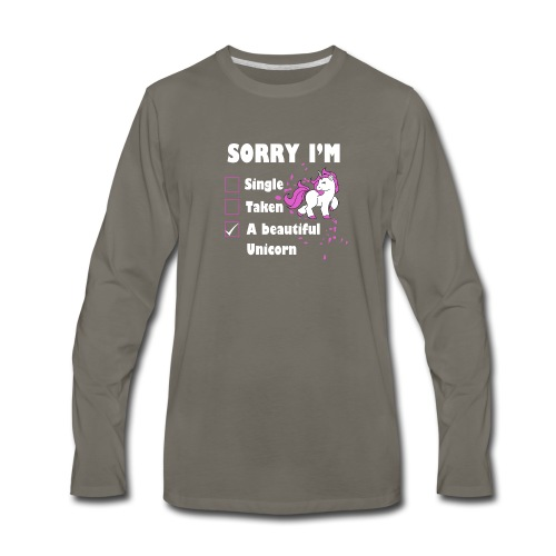 I M A BEAUTIFUL UNICORN - Men's Premium Long Sleeve T-Shirt