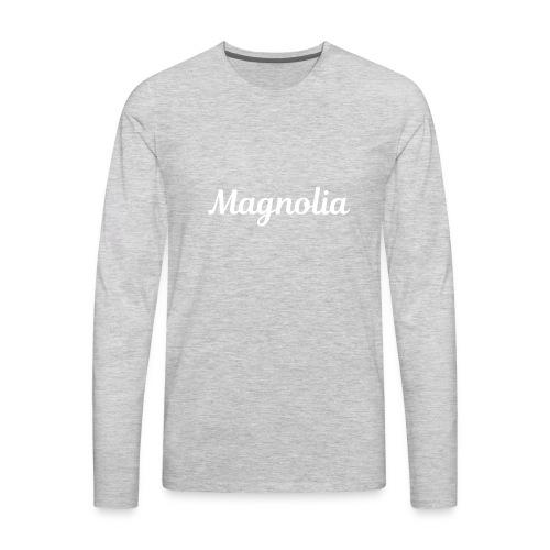 Magnolia Abstract Design. - Men's Premium Long Sleeve T-Shirt