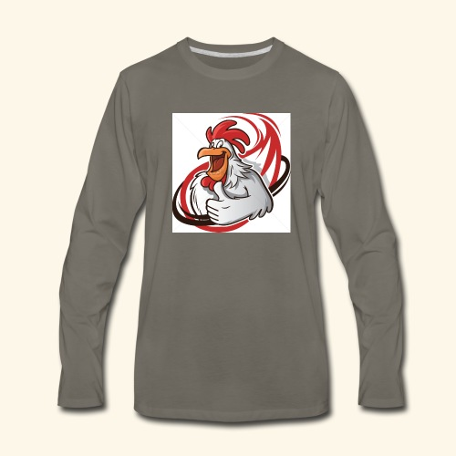 cartoon chicken with a thumbs up 1514989 - Men's Premium Long Sleeve T-Shirt