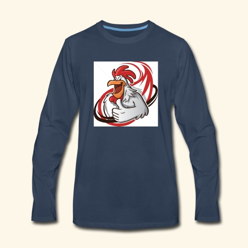 cartoon chicken with a thumbs up 1514989 - Men's Premium Long Sleeve T-Shirt