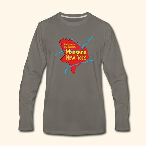 Massena NY Red - Men's Premium Long Sleeve T-Shirt