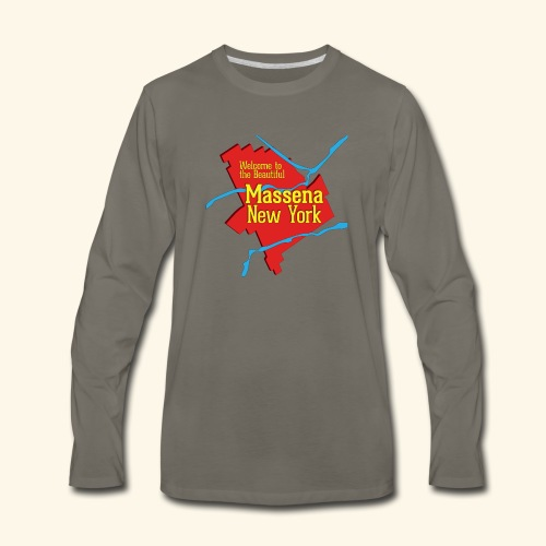 Massena NY Red - Men's Premium Long Sleeve T-Shirt
