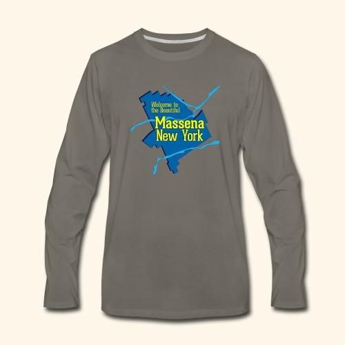 Massena NY Blue - Men's Premium Long Sleeve T-Shirt