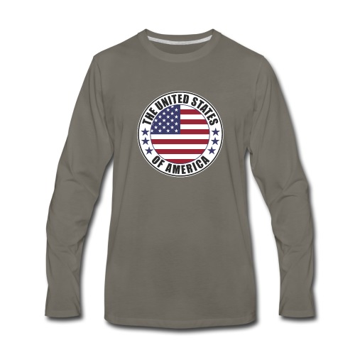 The United States of America - USA - Men's Premium Long Sleeve T-Shirt