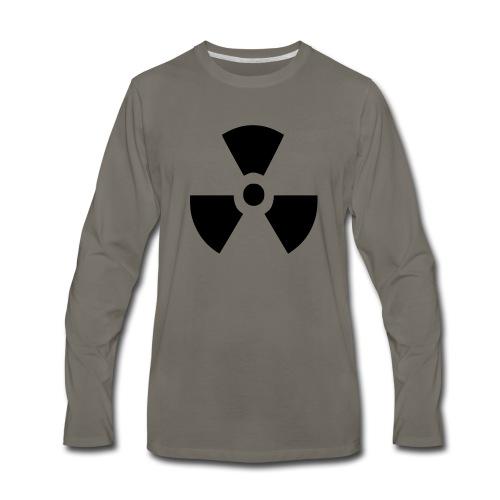 Radiation Symbol - Men's Premium Long Sleeve T-Shirt