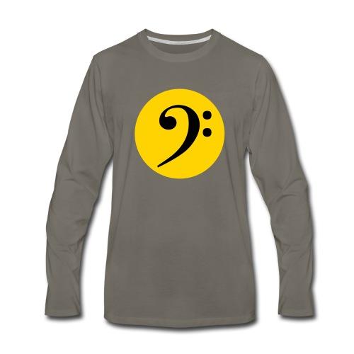 Bass Clef in Circle - Men's Premium Long Sleeve T-Shirt