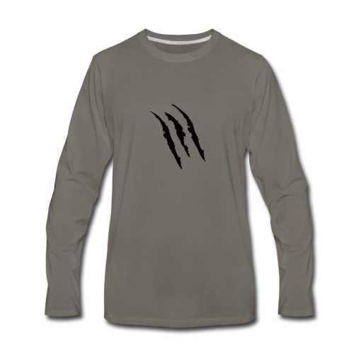 3 claw marks Muscle shirt - Men's Premium Long Sleeve T-Shirt