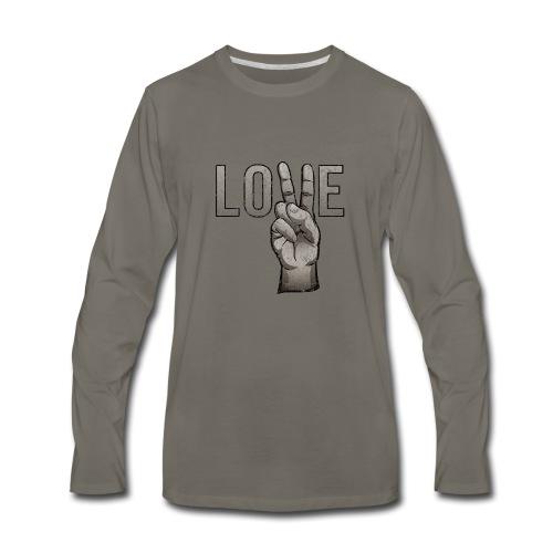 Peace Love - Men's Premium Long Sleeve T-Shirt