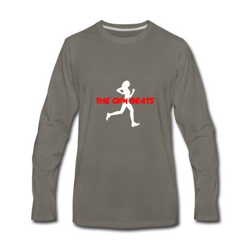 The GYM BEATS - Music for Sports - Men's Premium Long Sleeve T-Shirt