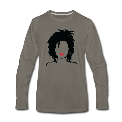 Locs & Lipstick_Global Couture Women's T-Shirts - Men's Premium Long Sleeve T-Shirt