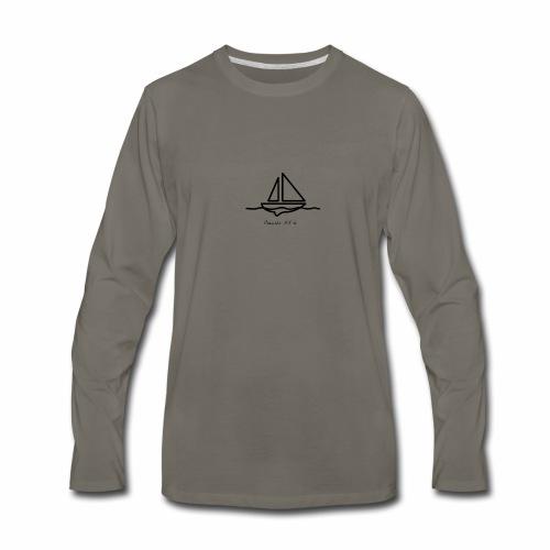 Proverbs 3:5-6 logo black - Men's Premium Long Sleeve T-Shirt